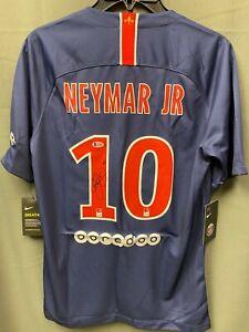 Neymar Jr. #10 Signed PSG Soccer Jersey Autographed AUTO Beckett BAS LOA Sz S