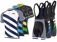 "FDX Mens ""Limited Edition"" Cycling Bib Gel Padded shorts + Cycling Jersey Combo"