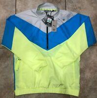 Mens Puma x First Mile Train FM Xtreme Woven Jacket Grey Blue Yellow NWT $100