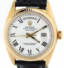 Rolex Solid 18K Yellow Gold Day-Date President w/ White & Black Roman Dial 1803