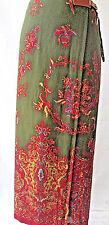 Lauren Ralph Lauren Skirt  Wrap Lined Floral Green Multi Color 10 Medium