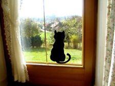 Aufkleber Katze am Fenster, Wandtattoo, 25cm  x 15cm