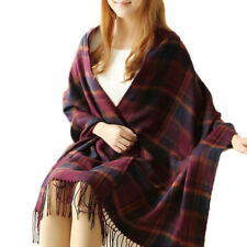 Women Pashmina Scarf Floral Soft Neck Wrap Warm Stole Large Shawl Tassel Scarves