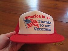 New Old Stock Vintage America is #1 Thanks to our VETERANS Flag Trucker Cap mesh