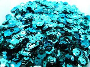 30g 7.5mm Aqua Faceted Glitter Confetti Sequins w/Hole Diy Craft Decor #SEQ058