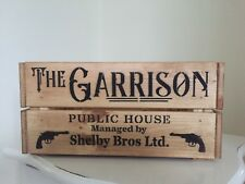 Wooden Peaky Blinders The Garrison Public House Shelby Bros Crate Box Storage