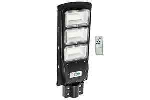 Lampione stradale faro led 120w con pannello solare luce fredda crepuscolare