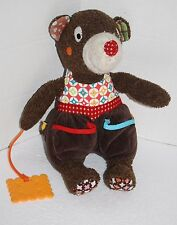 "Brown Plush MOUSE CHEESE TEETHER 12"" Teddy Bear Pockets Soft Toy Stuffed Animal"