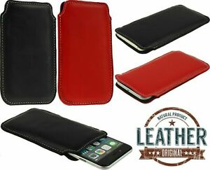 NICE POCKET CASE COVER HANDMADE OF GENUINE LAMB LEATHER POUCH FOR MOBILE PHONES