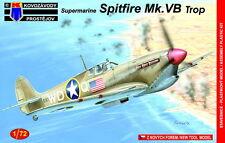Kovozavody Prostejov 1/72 Model Kit 7266 Supermarine Spitfire Mk.VB Trop