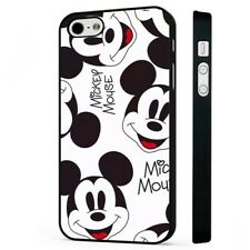 Disney Mickey Mouse Face Pattern BLACK PHONE CASE COVER fits iPHONE