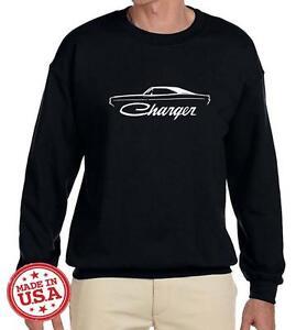 1968 1969 1970 Dodge Charger Classic Outline Design Sweatshirt NEW