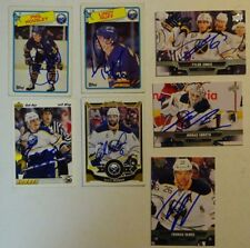 LOT OF 7 AUTOGRAPHED BUFFALO SABRES Signed NHL HOCKEY CARDS TOPPS UD Etc