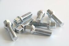 10pc Chrome Extended Lug Bolts - 12x1.5 Threads - 39mm Shank Length - Ball Seat