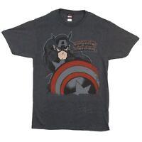 Captain America Deep Red Marvel Comics Licensed Adult T-Shirt