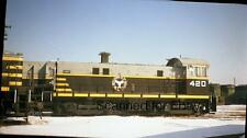 ORIGINAL PHOTO NEGATIVE-Railroad Chicago Belt Railway #420 Clearing Yard BRC