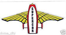 SUPERCAR STICKER - Gerry Anderson Fireball XL5 Thunderbirds TB2 Space 1999