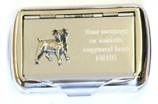 Jack Russell Terrier Tobacco Hand Cigarette Roll Ups Tin Hunting Hound Gift