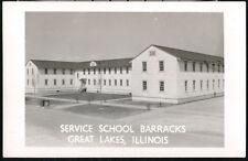 GREAT LAKES IL US Naval Training Station School Barracks Vtg RPPC Postcard Photo