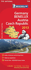 Germany, Benelux, Austria, Czech Republic 2013 National Map 719 (Michelin Nation