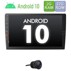 """10.1"""" Android 10 AUTORADIO mit Navigation NAVI BT USB GPS doppel DIN Kamera 32GB"""