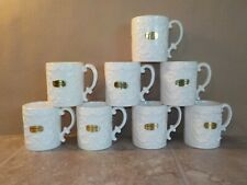 NAPCOWARE PROVINCIAL White Small Coffee Mugs Cups 8 Total