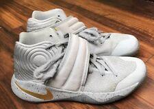 online retailer 419fb 1dc04 Nike Kyrie 2 Battle Grey Gold 819583-005 Men s Size 9 Basketball Shoes
