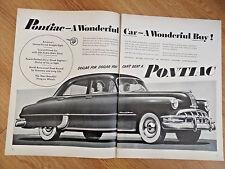 1950 Pontiac 8 Silver Streak Sedan Ad  A Wonderful Car & Buy
