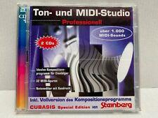 Ton- und MIDI-Studio Software auf 2 CDs