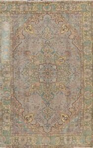 Antique Floral Traditional Area Rug Wool Hand-knotted Oriental Carpet 6x9 ft