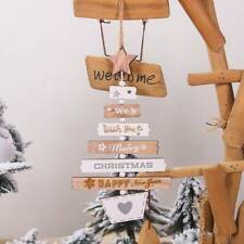 Christmas Wooden Pendant Hanging Door Decorations Xmas Tree Home Party Ornament