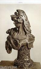 HELIOGRAVURE Auguste RODIN BELLONE 1883 Rose Beuret BRONZE TERRE CUITE 27x22 cm