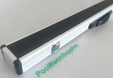 ALUMINIUM Formula Pool Snooker Billiards Cue Case Alloy Black Top (0857)