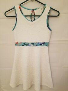 Banana Lemon Girl's Size 10 White Sleeveless Dress
