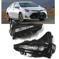 For 2017 17 18 Toyota Corolla LED Fog Lights Bumper Lamps Front Left & Right