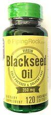 350mg Virgin Black Seed Cumin Oil 120 Softgels Cold Pressed Omega 3 6 9 Capsule