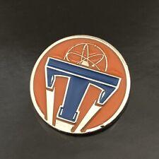 Disney's Tomorrowland Movie Promo Pin Button Original Disneyland George Clooney