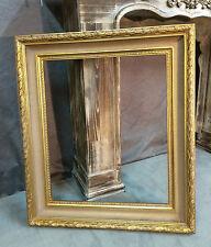 Cadre en bois et stuc doré contemporain style Louis XV 50 x 60 cm