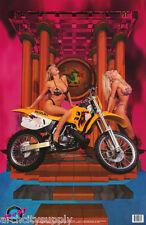 POSTER : 2 MODELS WITH  SUZUKI - RAD-N-BAD - SEXY FEMALES - #99-112  RAP9 B