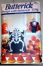 """Butterick Craft Pattern 5679 Great Halloween Decorations CHARACTERS 18""""Candycorn"""