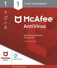 McAfee Internet Security Anti Virus Software 1 Year Licence 1 User / PC NEW
