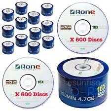 600 AONE 16x non stampabile logo con logo in bianco DVD-R all'ingrosso Joblot Ingrosso