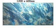 XLL 1200x600 Modern Silver BLue Original Painting Abstract Canvas Painting Art