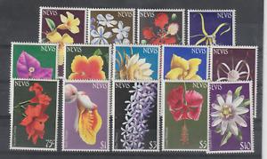 NEVIS 1984 Flower set complete Mint