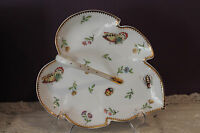 """I. GODINGER & CO. 8"""" HANDLED LEAF SHAPED DISH WITH BUTTERFLY DECORATION WITH BOX"""