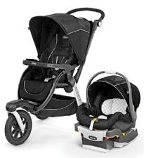 Chicco Activ3 Baby Jogger Jogging Stroller Travel System w Infant Car Seat Crux
