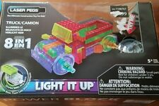 Laser Pegs Truck 8 In 1 Light Up Construction Toy Batteries Power Base Block NEW