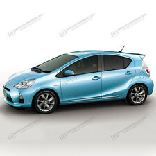 For: TOYOTA PRIUS C Chromed ABS Lower Body Side Moldings Moldings Trim 2012-2016