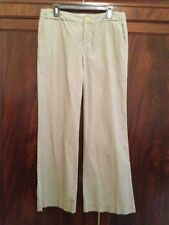 GAP Womens Olive Green Cotton Flat Front Casual Pants 10 Reg - EUC