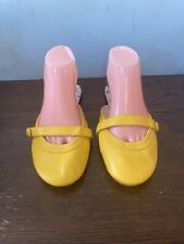 New Yellow Slip On Mules Size 8=41